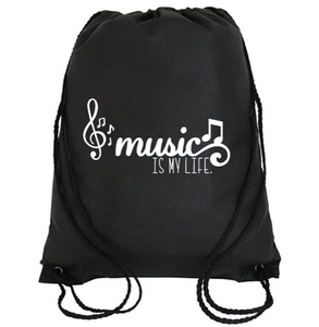 Cinch Bag: Music is my Life
