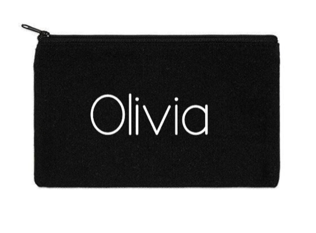 Canvas Zippered Pouch: Personalized * Add your name