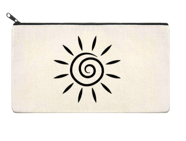 Canvas Zippered Pouch: Sun