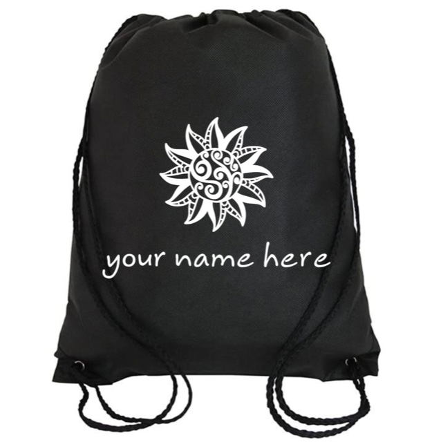 Cinch Bag: Tribal Sun Personalized * Add your name