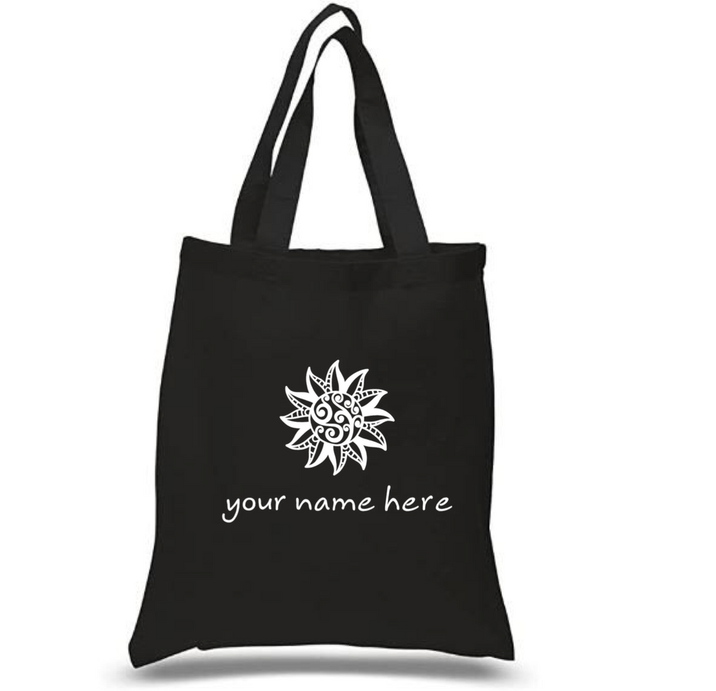 Tote Bag: Tribal Sun Personalized * Add your name