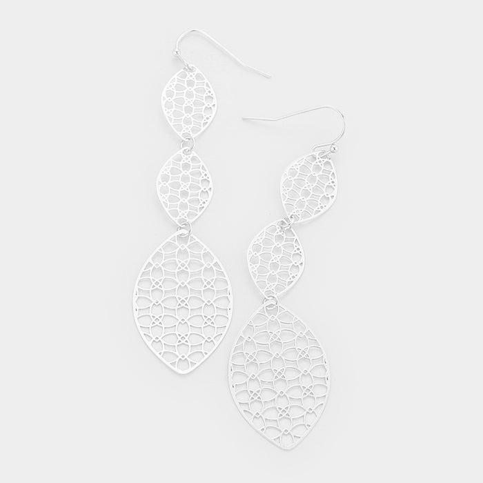 3-Tier Marquise Drop Earrings |2 colors|
