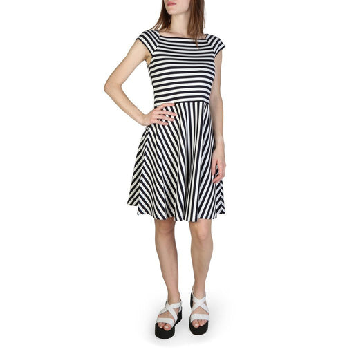 Armani Exchange Boat Neck Striped Dress, Women's
