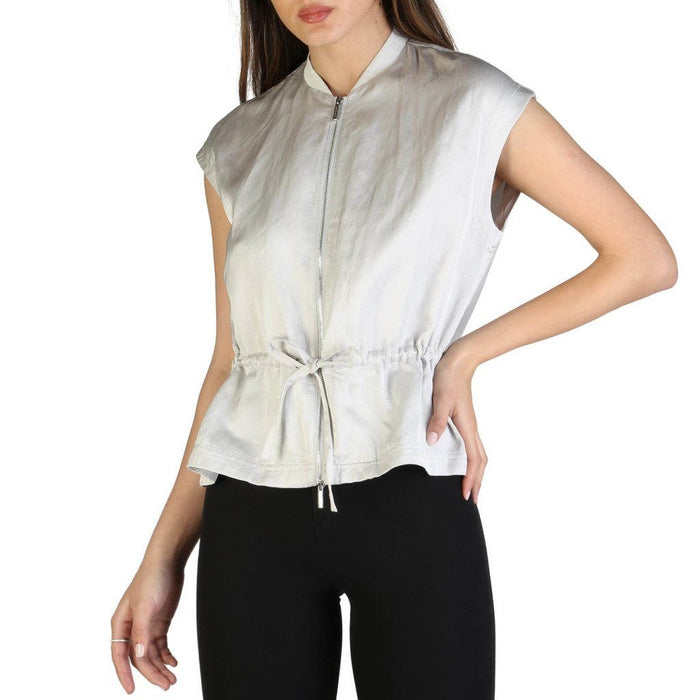 Armani Exchange Zip Up Blouse, Women's