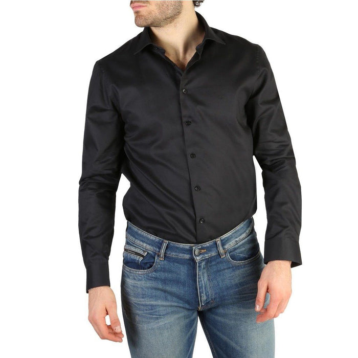 Calvin Klein Regular Fit Button Up Shirt, Black, Men's