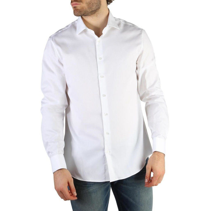 Calvin Klein Regular Fit Button Up Shirt, White, Men's