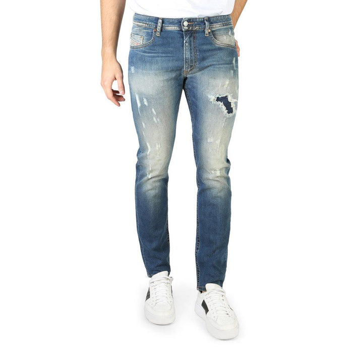 Diesel Thommer Distressed Skinny Jeans, Light Blue, Men's