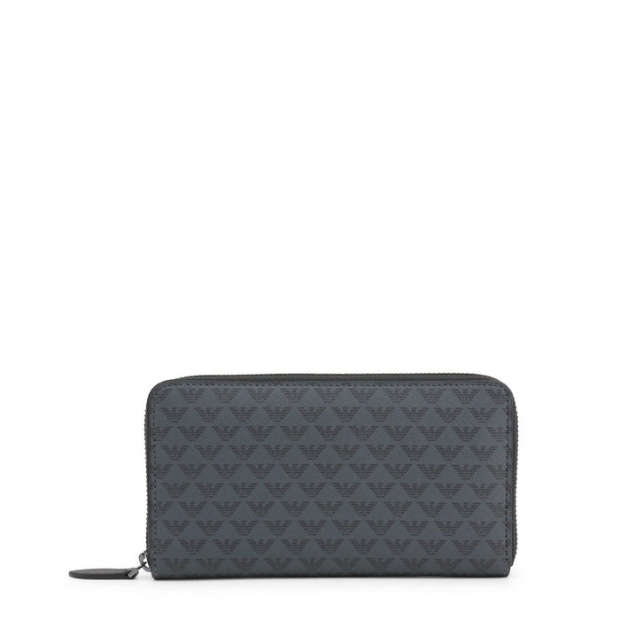 Emporio Armani Patterned Zip Long Wallet, Men's