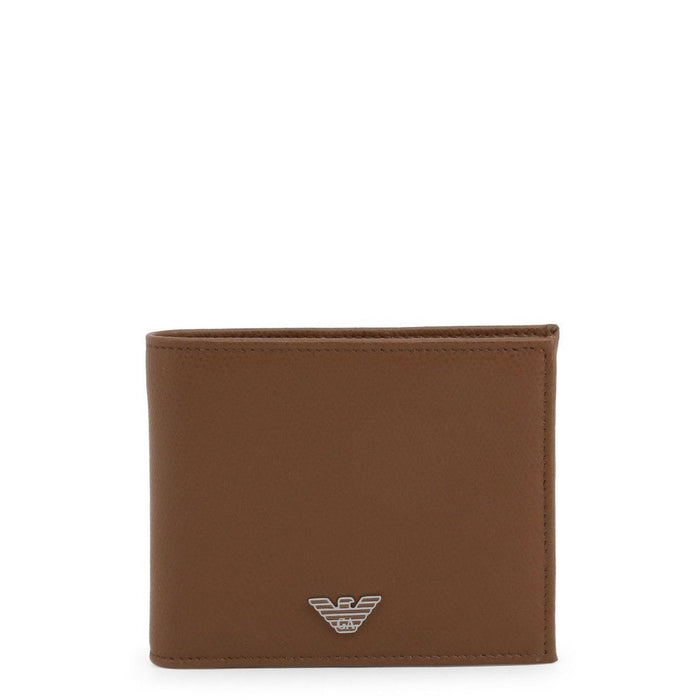 Emporio Armani Leather Wallet, Brown, Men's