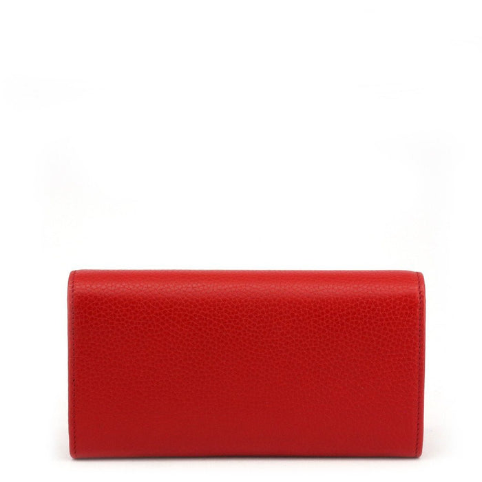 Gucci Interlocking Leather Continental Wallet, Women's