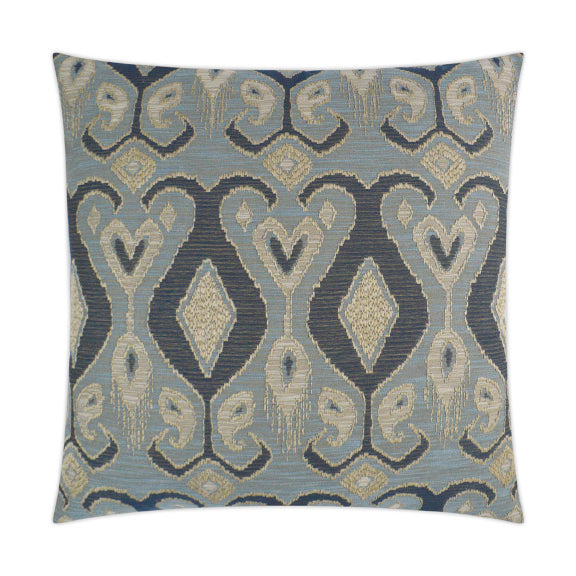 Blue Ikat Pillow