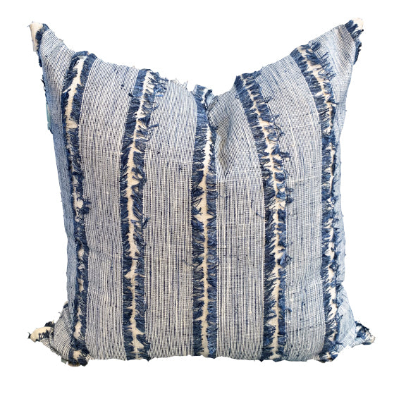 Navy Fringe Pillow