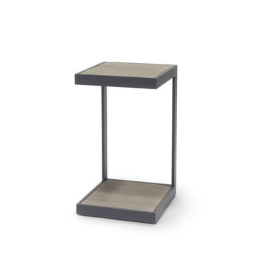 Outdoor Teak & Metal End Table