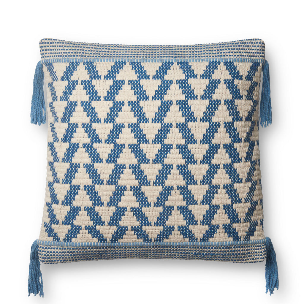 Blue Tassel Pillow