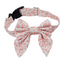 Dog Collar & Sailor Tie. Trendy Pink and White pattern