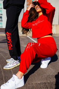 Cursive Custom City Sweatshirt and Sweatpants Set