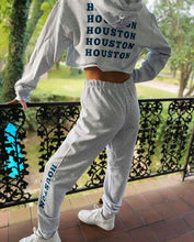 Load image into Gallery viewer, Grey Houston Hoodie & Sweats Set