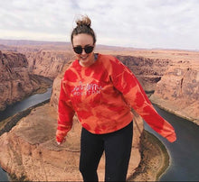 Load image into Gallery viewer, Red Acid Wash Skyline Sweatshirt