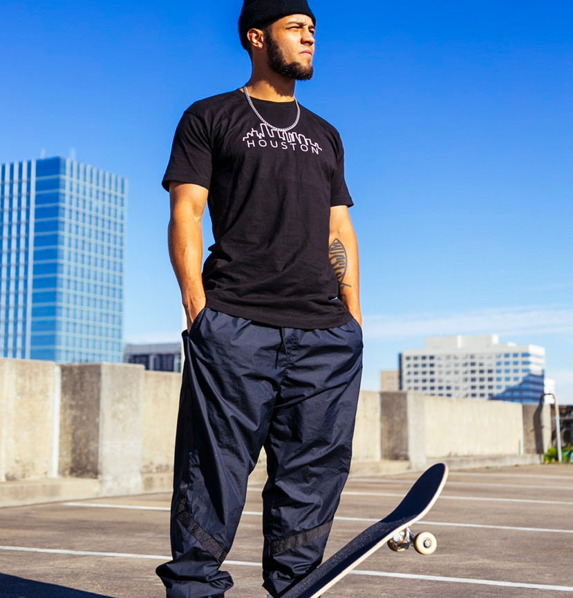Black Custom City Skyline T-Shirt