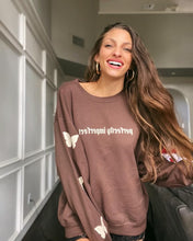Load image into Gallery viewer, Perfectly Imperfect sweatshirt (brown)