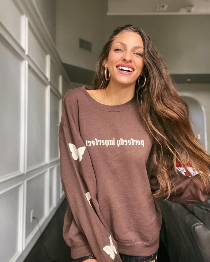 Perfectly Imperfect sweatshirt (brown)