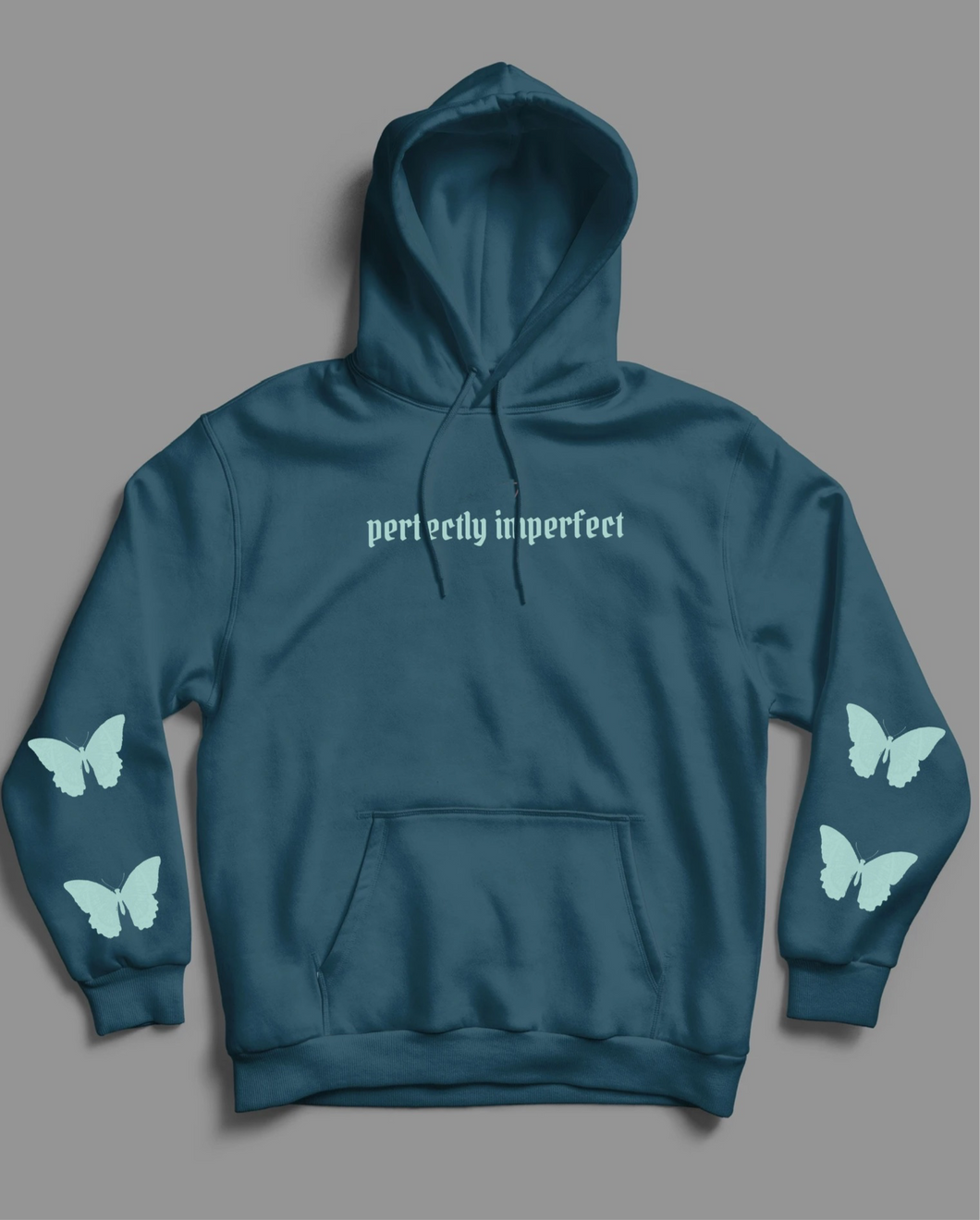 Blue perfectly imperfect hoodie