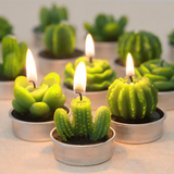 12pcs Succulent Cactus Home Candles Decor