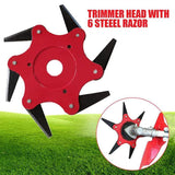 6 Steel Blade Head Lawn Trimmer aplanter