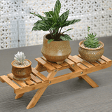 Bamboo Plant Flower Shelf Stand aplanter