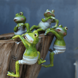 Creative Climbing Frogs Garden Decor Ornament aplanter