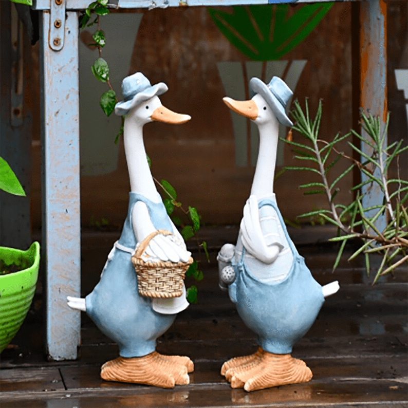 Duck Ornaments Resin Garden Sculpture aplanter