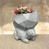 Geometric Squirrel Resin Garden Plant Pot aplanter