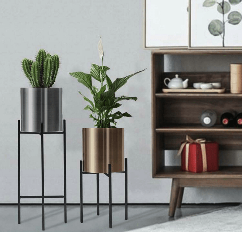 Minimalist Metal Flower Pot Rack aplanter