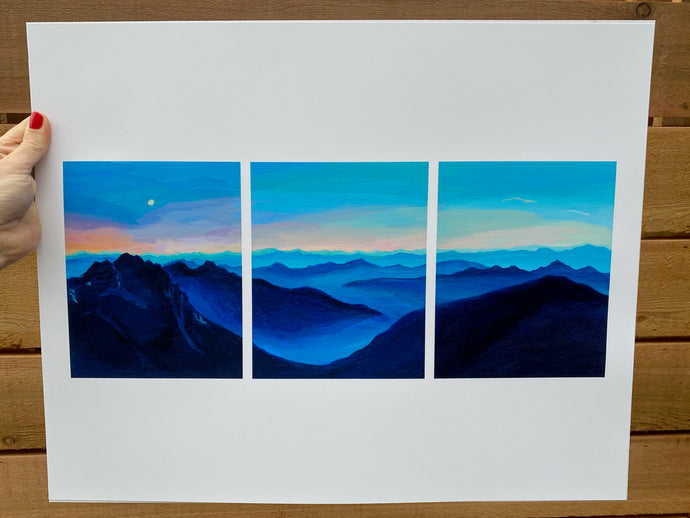 Mountains for Breakfast - 16x20