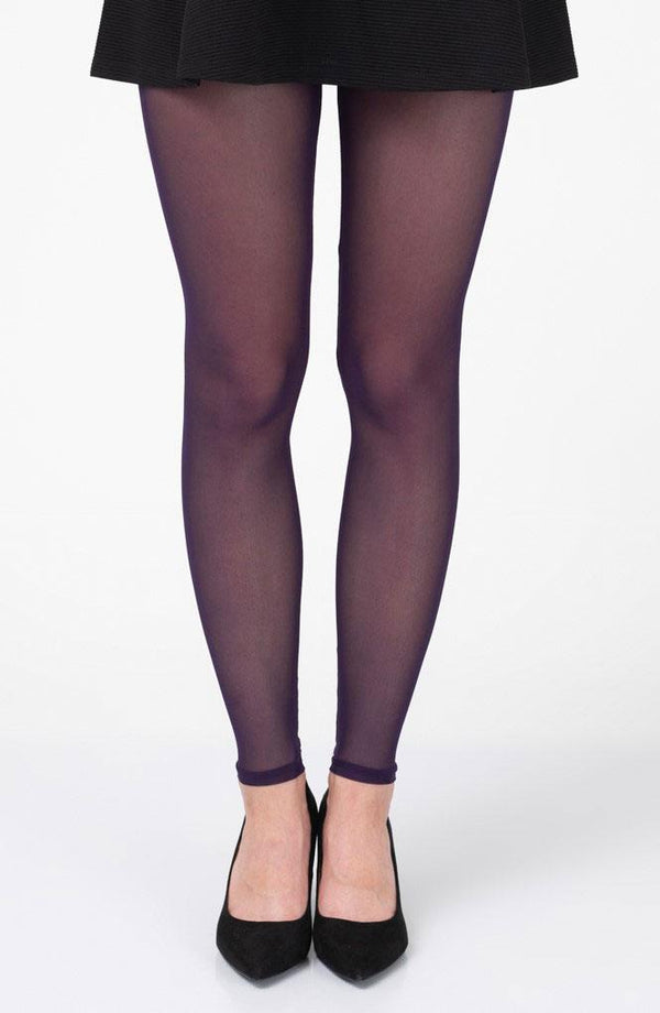 Eggplant Footless Tights
