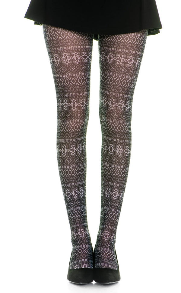 Graphics Pattern Full Foot Tights