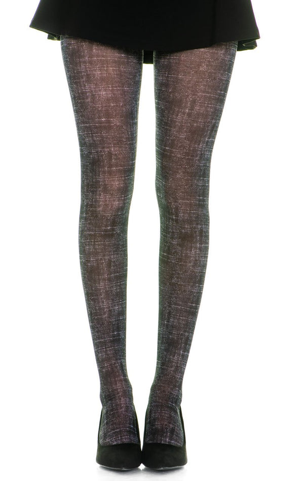 Rubbed Black Full Foot Tights