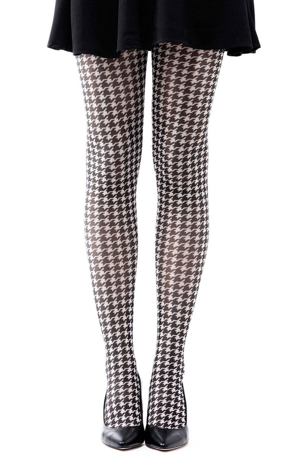 Pepita Pattern Full Foot Tights