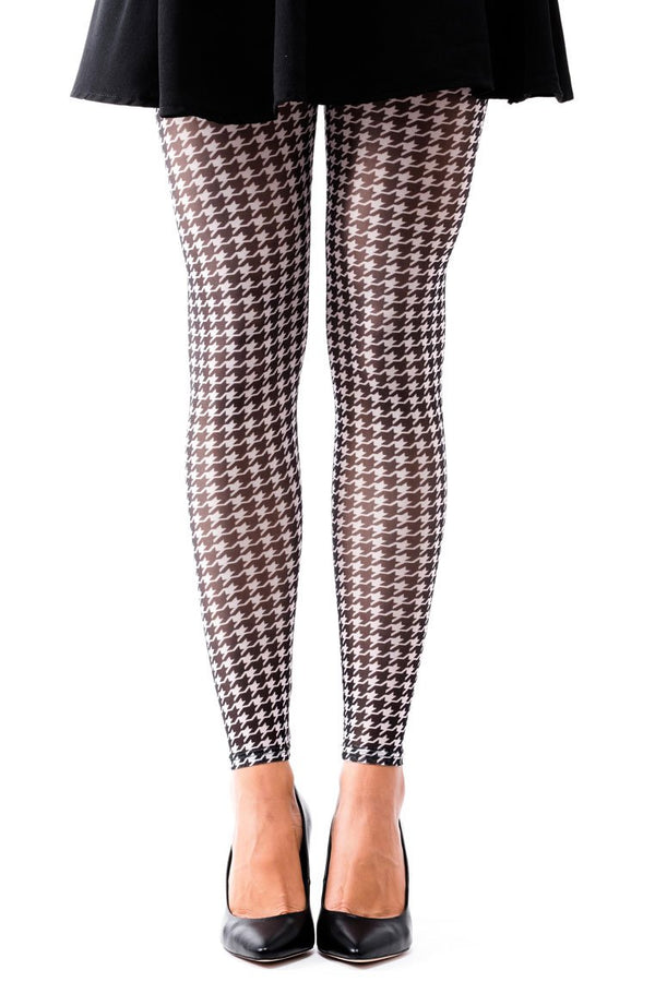 Pepita Pattern Footless Tights