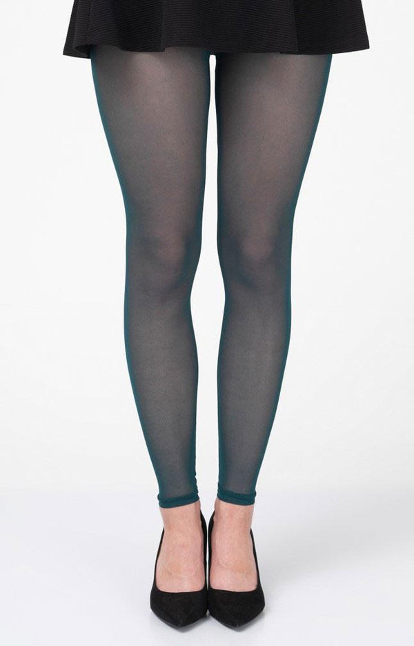 Turquoise Footless Tights