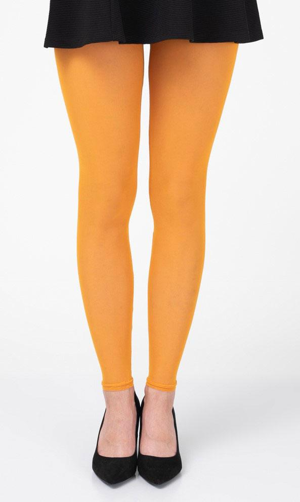 Yellow Ochre Footless Tights