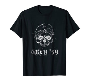 Grey G59 Records t-shirt for men women