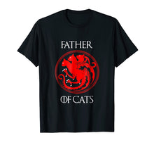 Cargar imagen en el visor de la galería, Mens The Catfather Funny Shirt Cat Dad Lover Gift T-Shirt