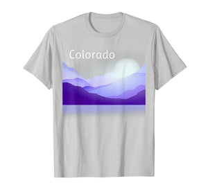 Colorado Mountain Scene T-Shirt Shades of Purple
