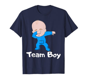Gender Reveal Party Team Boy Dabbing Baby T-Shirt