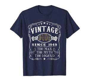 70 Years Old 1949 Vintage 70th Birthday T Shirt Decorations