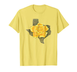 Awesome Yellow Rose Of Texas Pattern Flower T-Shirt