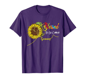 Blessed To Be Called Grammy Floral Funny Gift T-Shirt