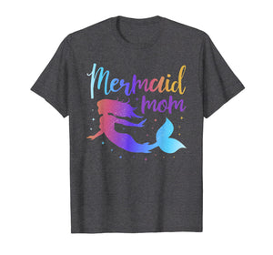Mermaid Mom Matching Birthday Party T-Shirt