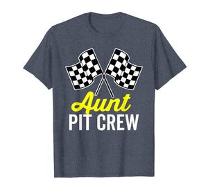 Aunt Pit Crew Shirt for Racing Party Costume (Dark)